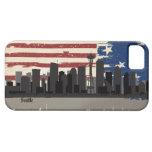 Caso americano del iPhone 5 del paisaje urbano de iPhone 5 Protectores