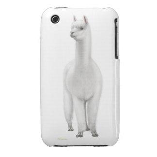 Caso amistoso del iPhone de la alpaca iPhone 3 Carcasas