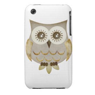 Caso ancho del búho de los ojos iPhone 3 Case-Mate protectores