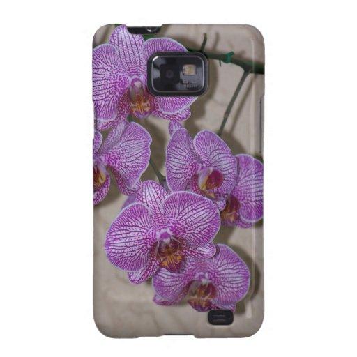 Caso androide de la orquídea samsung galaxy SII carcasa