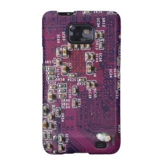 Caso androide de la textura 2 púrpuras de la placa galaxy s2 funda