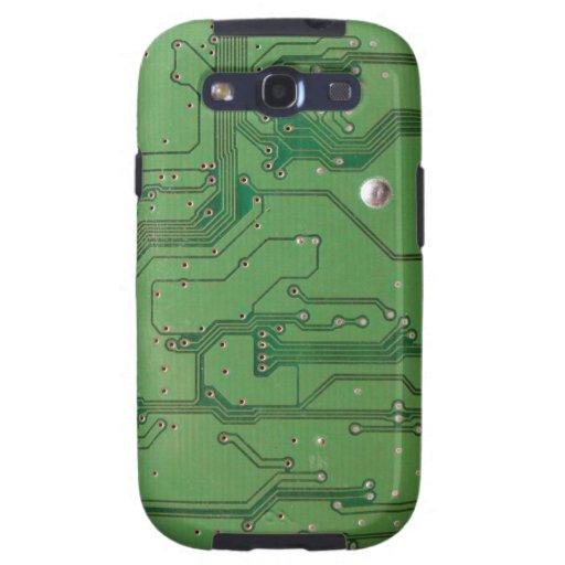 Caso androide de la textura 2 verdes de la placa carcasa para galaxy s3