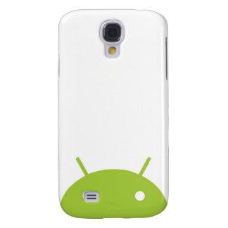 Caso androide del iPhone que mira a escondidas Funda Para Samsung Galaxy S4