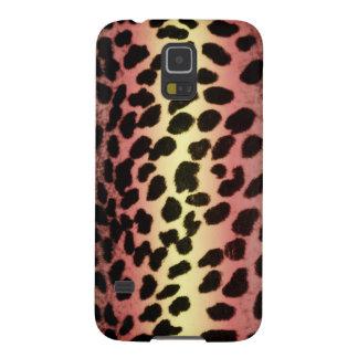 Caso animal de Samsung S5 del estampado leopardo Carcasas De Galaxy S5