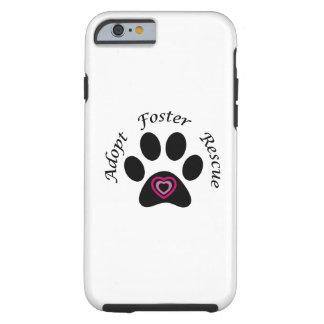 Caso animal del iPhone 6 del rescate Funda De iPhone 6 Tough