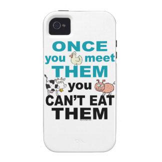 Caso animal del iphone de la compasión iPhone 4 fundas