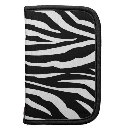 Caso animal del planificador del estampado de zebr