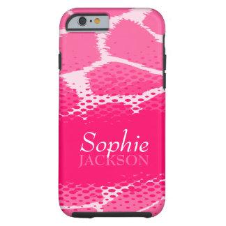 Caso animal gráfico rosado del iPhone 6 Funda De iPhone 6 Tough