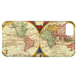 Caso antiguo de Iphone del arte del globo del vint Funda Para iPhone 5C