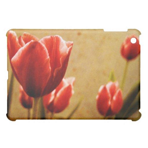 Caso antiguo del iPad de los tulipanes