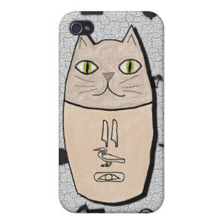 Caso antiguo del iPhone 4 del gatito de Canopic de iPhone 4/4S Carcasa