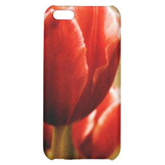 Caso antiguo del iPhone 4G de los tulipanes
