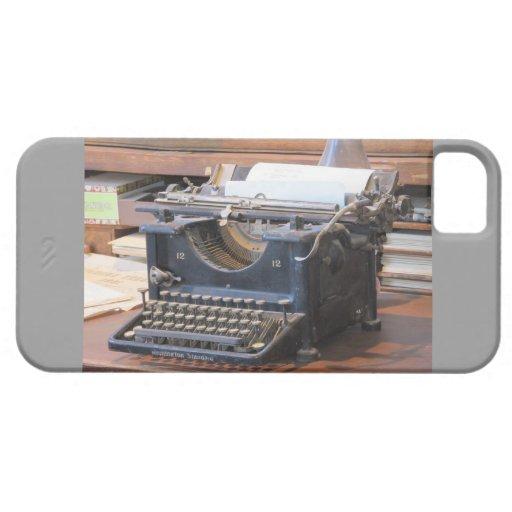 Caso antiguo del iPhone 5 de la máquina de escribi iPhone 5 Case-Mate Funda
