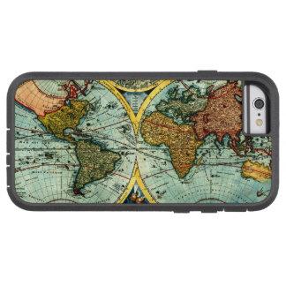 Caso antiguo del iPhone 6 del arte del globo del Funda Tough Xtreme iPhone 6