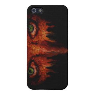Caso ardiente de Iphone de la mirada fija iPhone 5 Carcasas