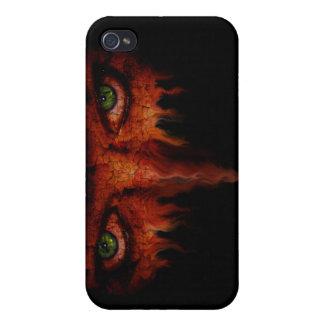 Caso ardiente de Iphone de la mirada fija iPhone 4/4S Fundas