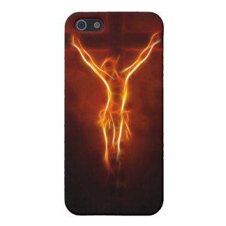 Caso ardiente del iPhone 4 de la crucifixión de Je iPhone 5 Cárcasa