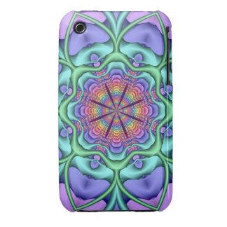 Caso artístico del iPhone 3 del caleidoscopio de l Case-Mate iPhone 3 Fundas
