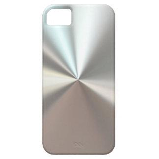 caso artístico del iPhone 5 del metal plateado iPhone 5 Case-Mate Fundas