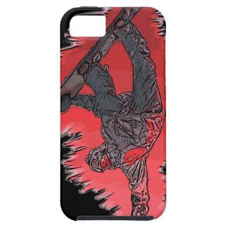 Caso artístico del iphone del snowboarder rojo de iPhone 5 carcasas