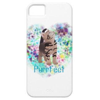 Caso artsy del iphone del gato lindo funda para iPhone 5 barely there