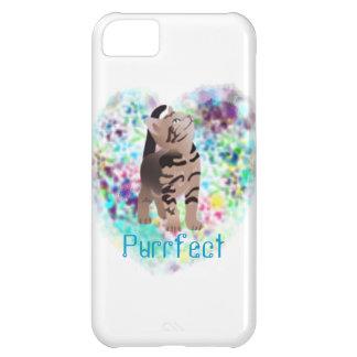 Caso artsy del iphone del gato lindo funda para iPhone 5C