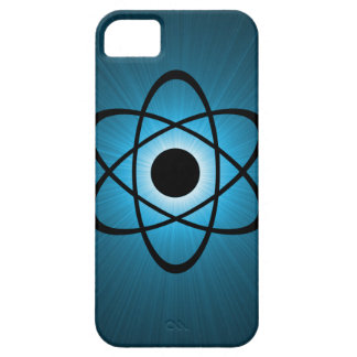 Caso atómico Nerdy del iPhone 5 de BT, azul iPhone 5 Carcasas