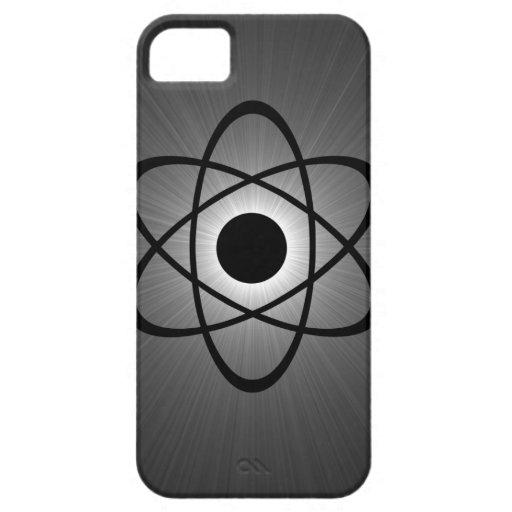 Caso atómico Nerdy del iPhone 5 de BT, gris iPhone 5 Funda