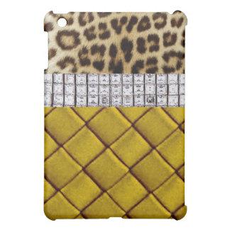 Caso atractivo del iPad del amarillo del diamante