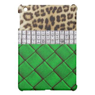 Caso atractivo del iPad del verde del diamante del