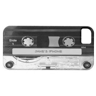 Caso audio del iPhone 5 de la cinta de casete de m iPhone 5 Case-Mate Protector