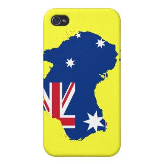 Caso australiano del iPhone de la bandera del aust iPhone 4/4S Carcasas