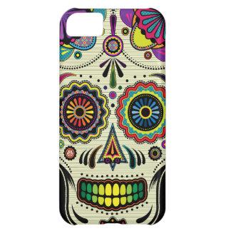 Caso azteca del arte iPhone5 del cráneo del azúcar