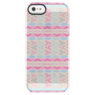 Caso azteca rosado del iPhone del claro del modelo Funda Clearly™ Deflector Para iPhone 5 De Uncommon