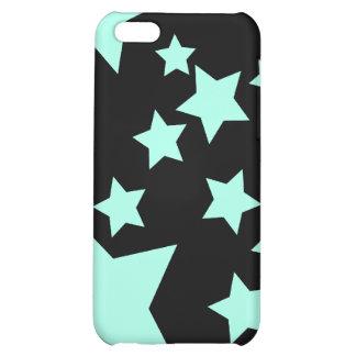 Caso azul claro del iPhone 4 de las estrellas