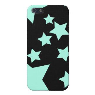 Caso azul claro del iPhone 4 de las estrellas iPhone 5 Cobertura