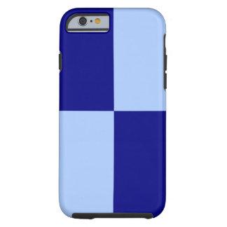 Caso azul claro y azul marino del iPhone 6 de los