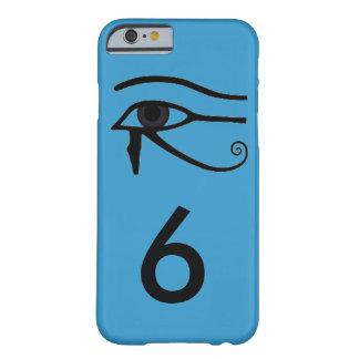 Caso azul del teléfono 6 del egipcio I Funda De iPhone 6 Barely There