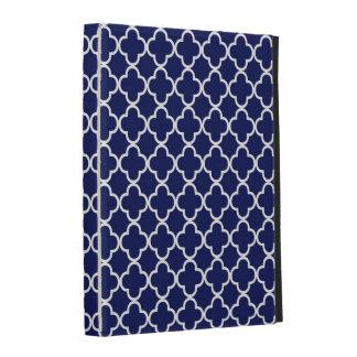 Caso azul marino del iPad del modelo del trébol de