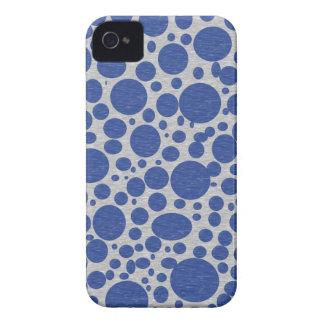 Caso azul marino del iPhone 4 de las burbujas Case-Mate iPhone 4 Cárcasas