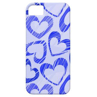 Caso azul marino del iPhone 5 de los corazones iPhone 5 Case-Mate Carcasa