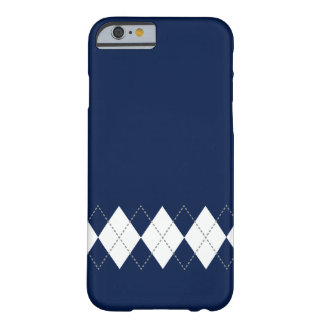 Caso azul marino del iPhone 6 del modelo de Argyle Funda Barely There iPhone 6