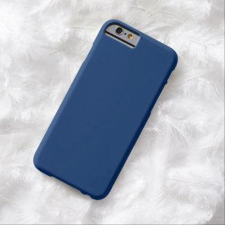 Caso azul marino llano del iPhone 6 Funda De iPhone 6 Barely There