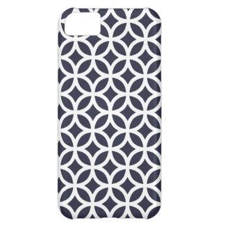 caso \ azules marinos del iPhone 5C geométricos