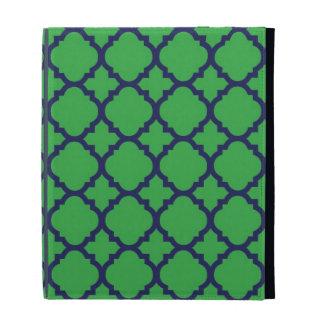 Caso azulverde del iPad de Quatrefoil
