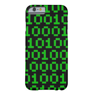 Caso binario del iphone del código del pixel funda barely there iPhone 6