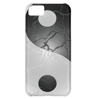 Caso blanco y negro del iPhone 5 del ambiente de Y