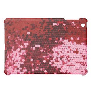 Caso bling de la cubierta del iPad del brillo rojo