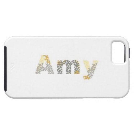 "Caso bonito de IPhone del ""Amy"" del diseño iPhone 5 Carcasa"