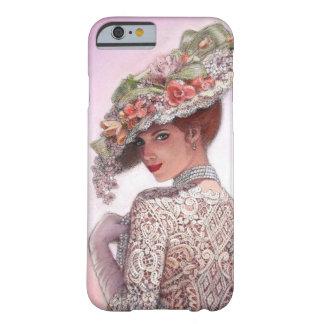 Caso bonito del iPhone 6 del chica de la moda del Funda De iPhone 6 Barely There